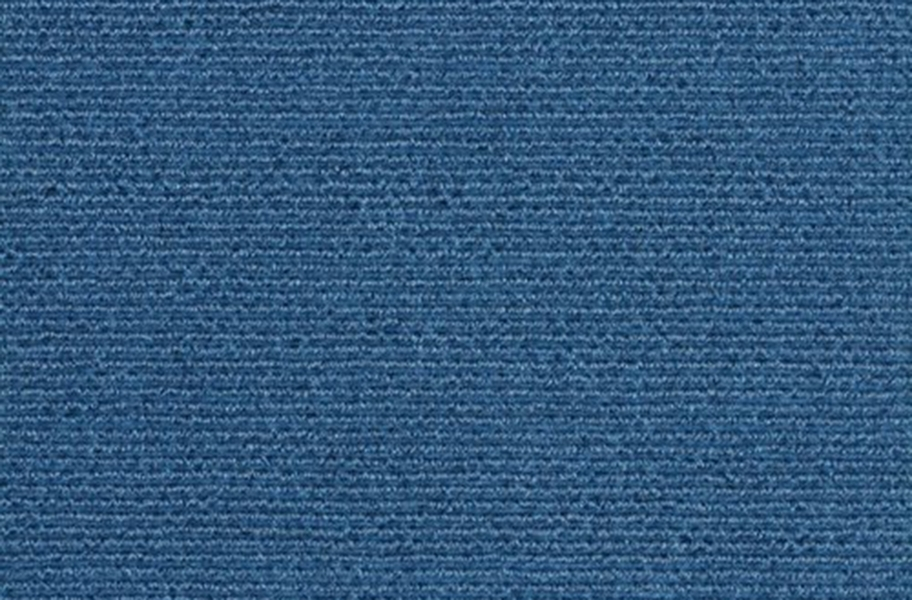 Wide Ribbed Carpet Tile - Blue