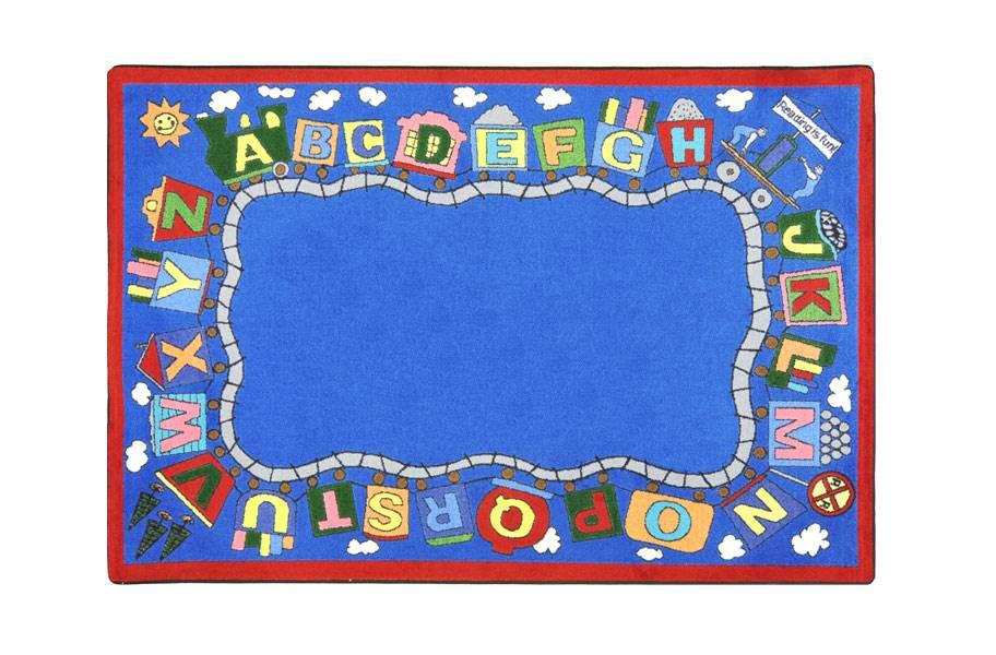 Joy Carpets Reading Train Kids Rug