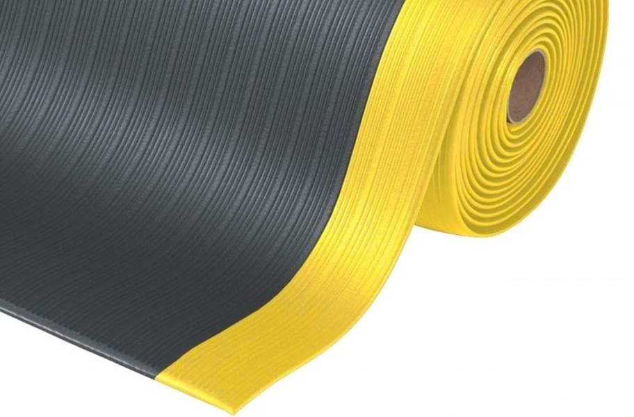 Airug Anti-Fatigue Mat - Custom Cut - Black/Yellow
