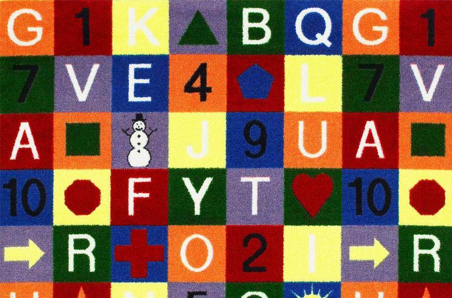 Joy Carpet Edu-Squares Kids Rug