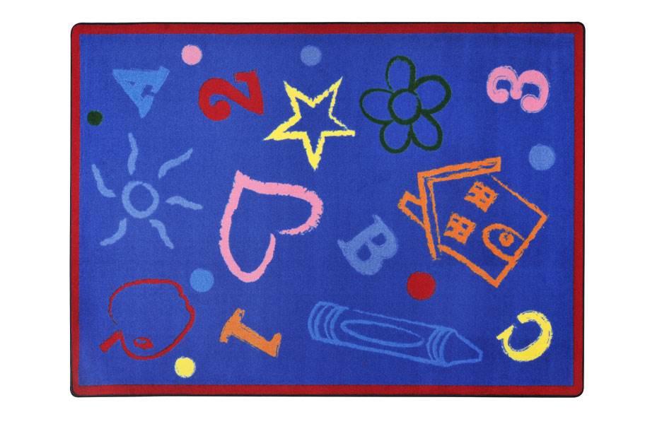 Joy Carpets Kid's Art Kids Rug