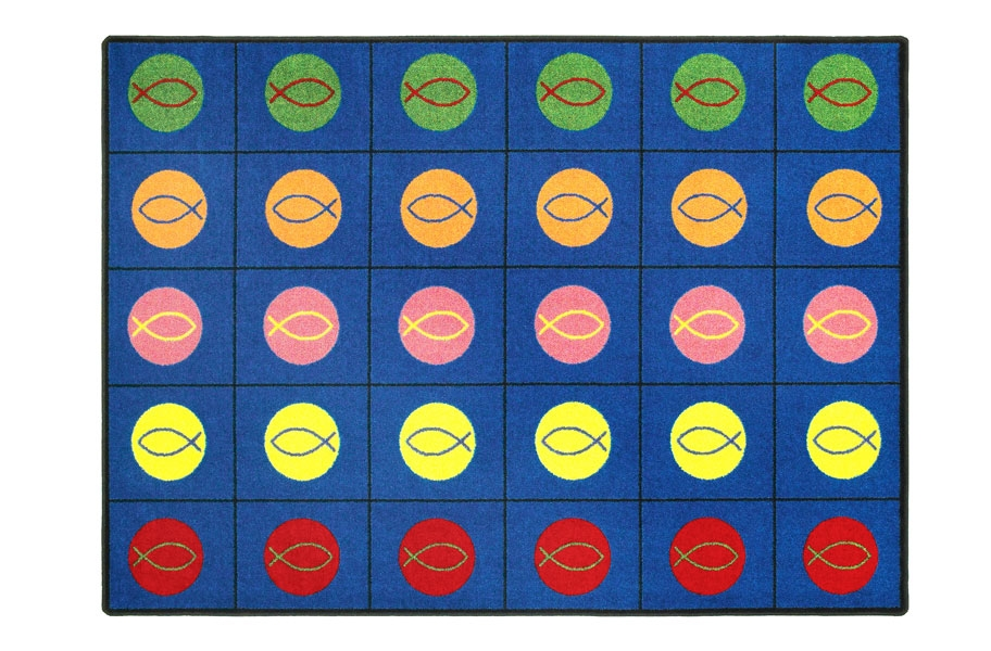 Joy Carpets Circles & Symbols Kids Rug