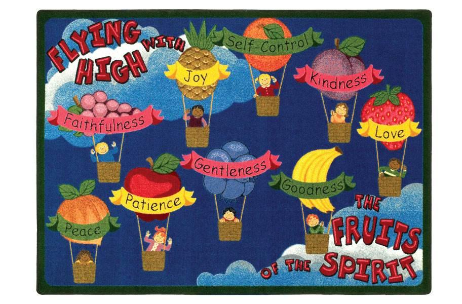 Joy Carpets Fruits Of The Spirit Kids Rug