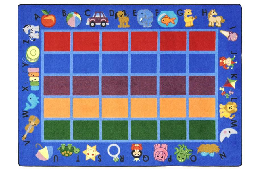 Joy Carpets Alphabet Phonics Kids Rug