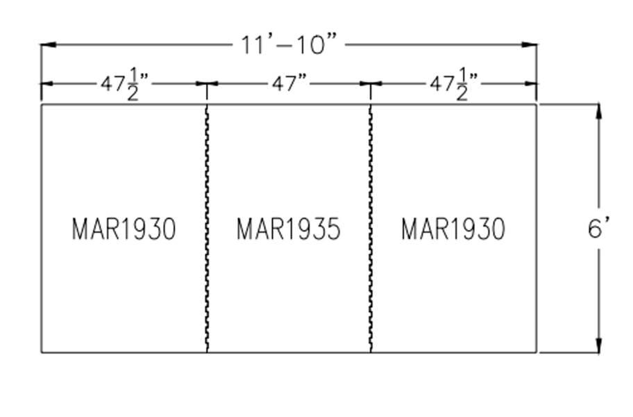 """1/2"""" Diamond Top Dog Kennel Mat Kits - 6' x 12' Kit"""