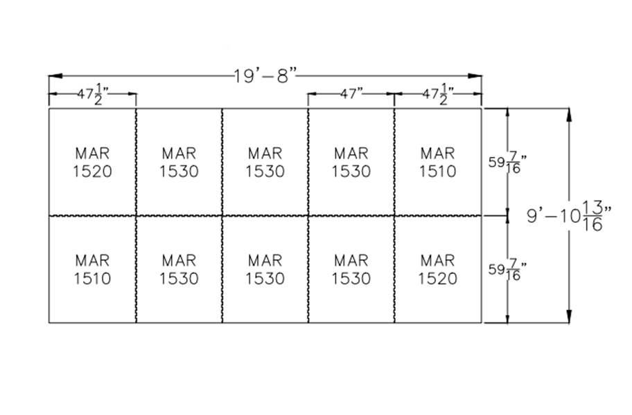"""3/4"""" Diamond Top Horse Mat Kits - 10' x 20' Kit"""