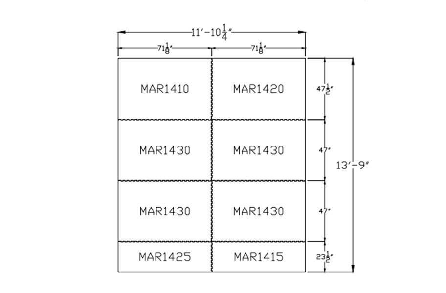 """3/4"""" Diamond Top Horse Mat Kits - 12' x 14' Kit"""