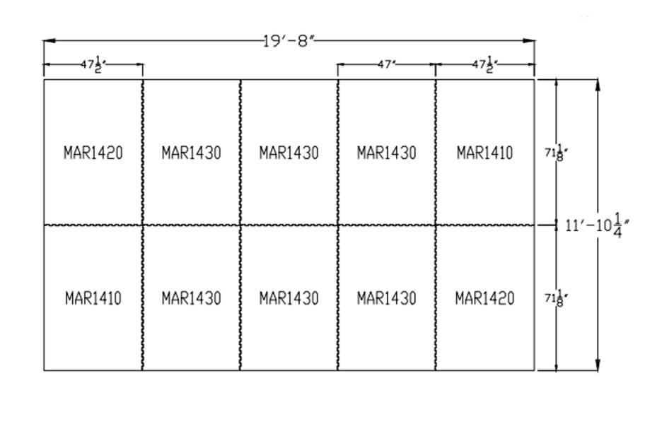 """3/4"""" Diamond Top Horse Mat Kits - 12' x 20' Kit"""