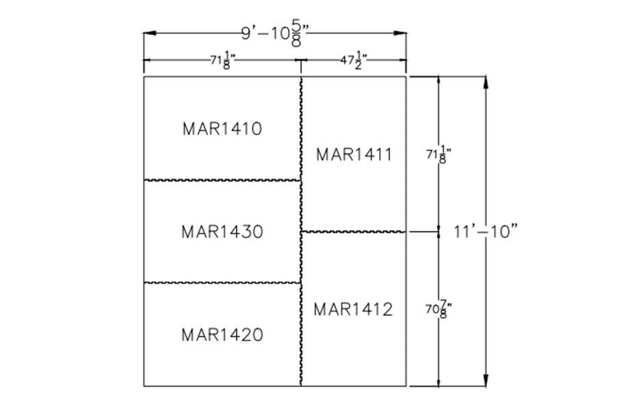 """3/4"""" Diamond Top Horse Mat Kits - 10' x 12' Kit"""