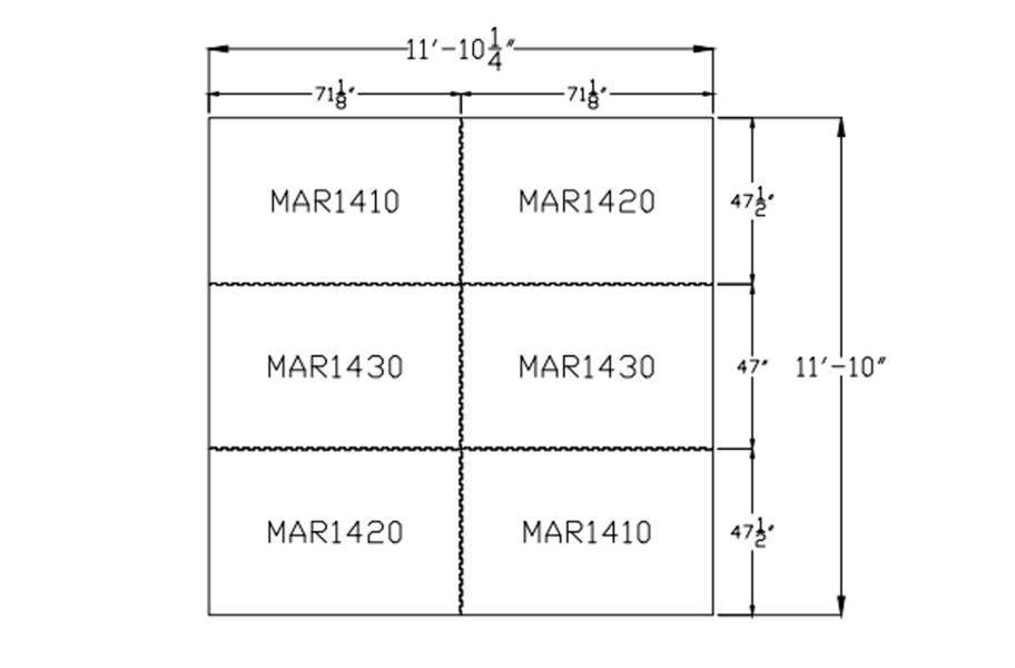 """3/4"""" Diamond Top Horse Mat Kits - 12' x 12' Kit"""