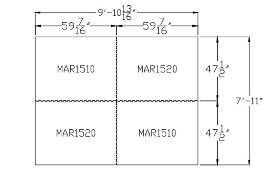 """3/4"""" Diamond Top Horse Mat Kits - 8' x 10' Kit"""