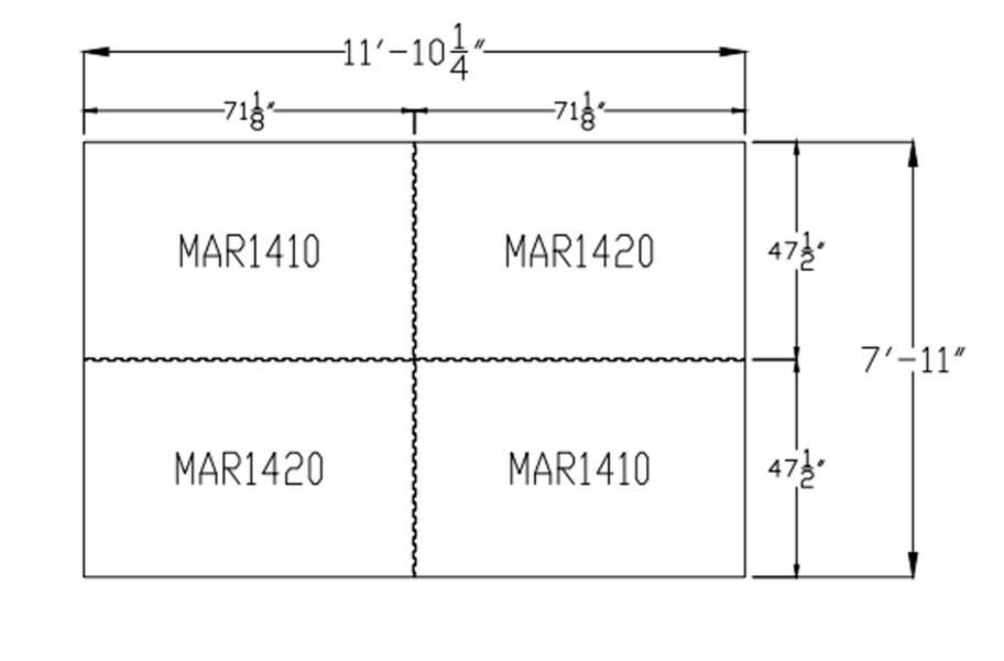 """3/4"""" Diamond Top Horse Mat Kits - 8' x 12' Kit"""