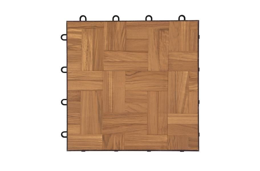 Modular Grid-Loc Tiles™ - Teak