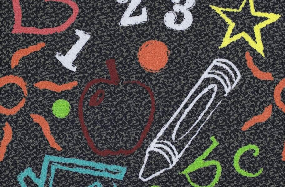 Joy Carpets Kid's Art Carpet Tile - Chalkdust
