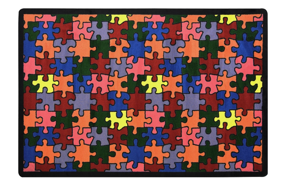 Joy Carpets Puzzled Kids Rug