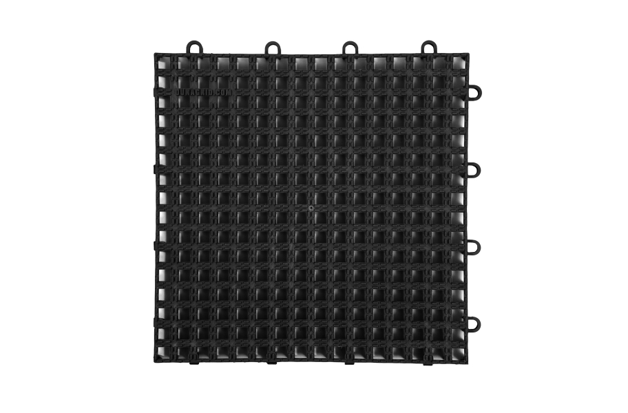 Raised Grip-Loc Tiles - Black