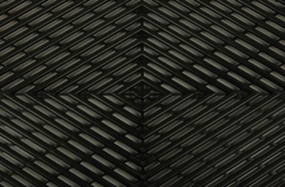 Vented Grid-Loc Tiles™ - Midnight Black