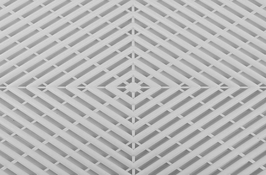 Vented Grid-Loc Tiles™ - Arctic White