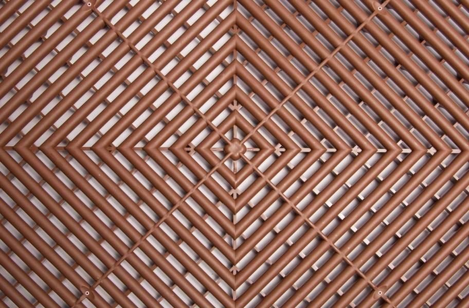 Ribtrax Tiles - Chocolate Brown