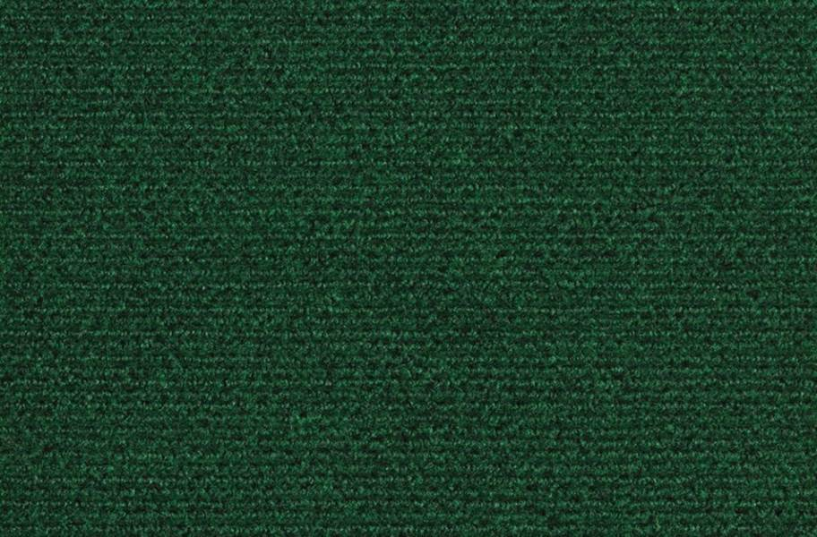 Wide Ribbed Carpet Tile - Green