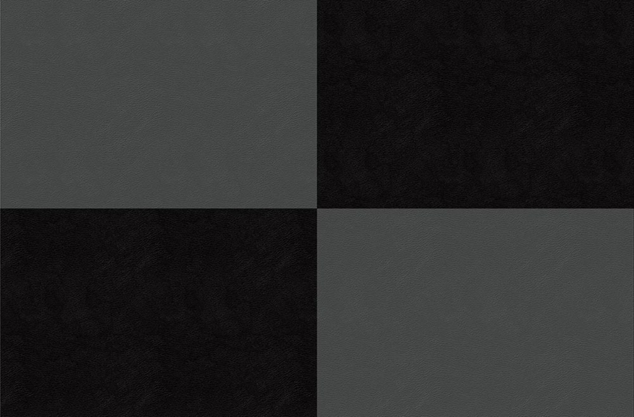 Smooth Flex Tiles - Black & Dark Gray