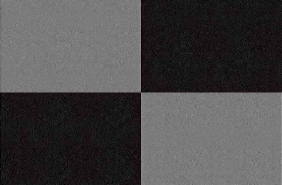 Smooth Flex Tiles - Black & Light Gray