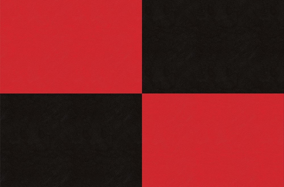Smooth Flex Tiles - Black & Red