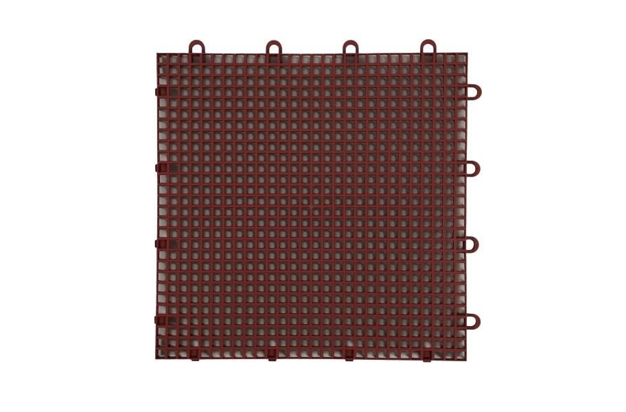 Smooth Grip-Loc Tiles - Brick Red