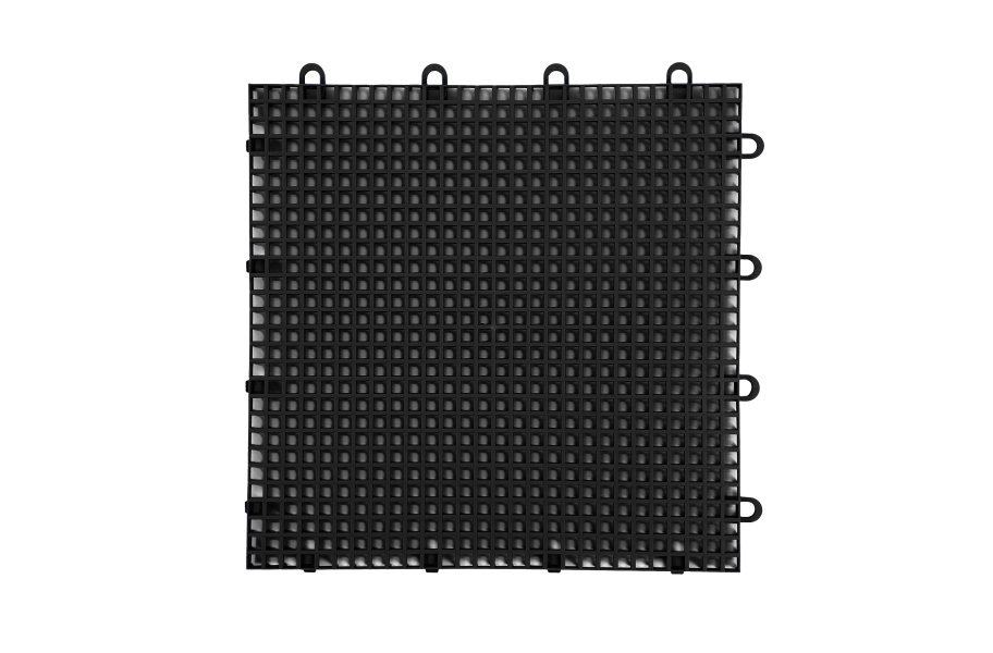 Smooth Grip-Loc Tiles - Black