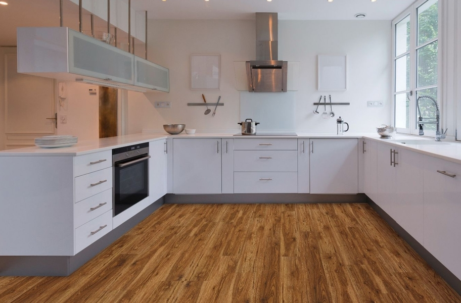 "COREtec Plus 7"" Waterproof Vinyl Planks - Blackstone Oak"