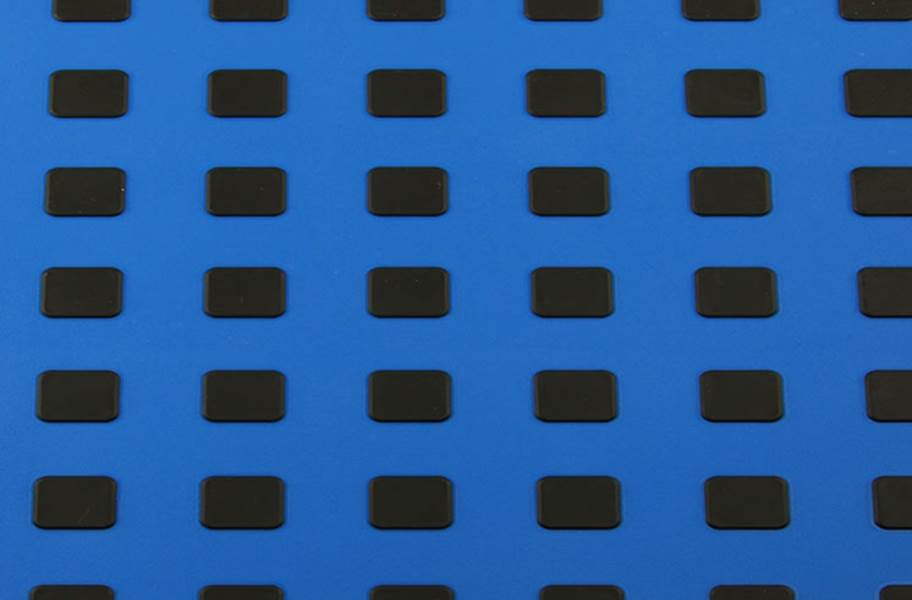 Premium Tiles w/ Traction Squares - Blue w/ Black