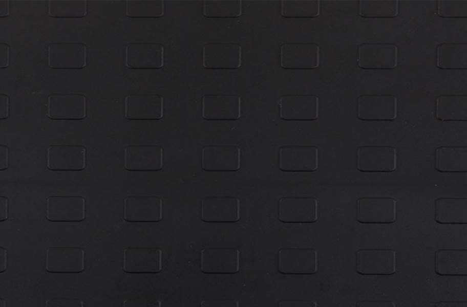 Solid Tiles w/ Raised Squares - Black