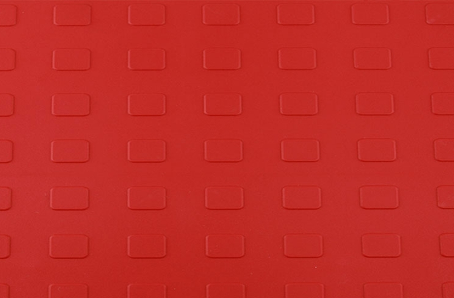 Solid Tiles w/ Raised Squares - Red