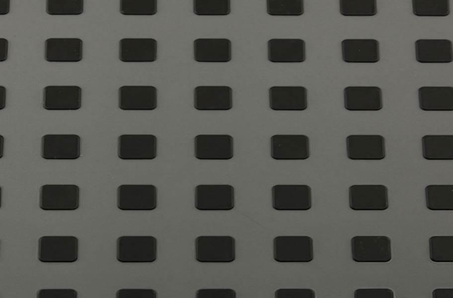 Premium Tiles w/ Traction Squares - Dark Grey w/ BLack