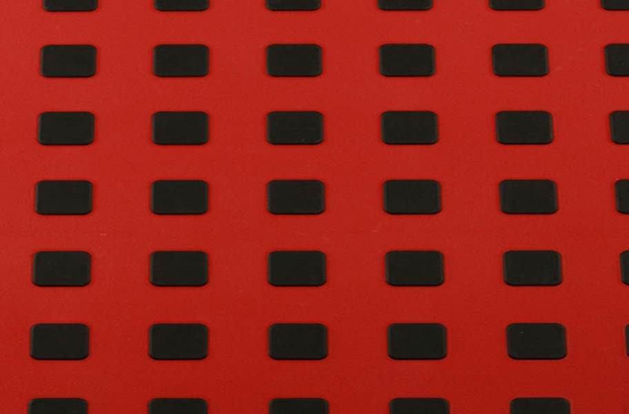 Premium Tiles w/ Traction Squares - Red w/ Black