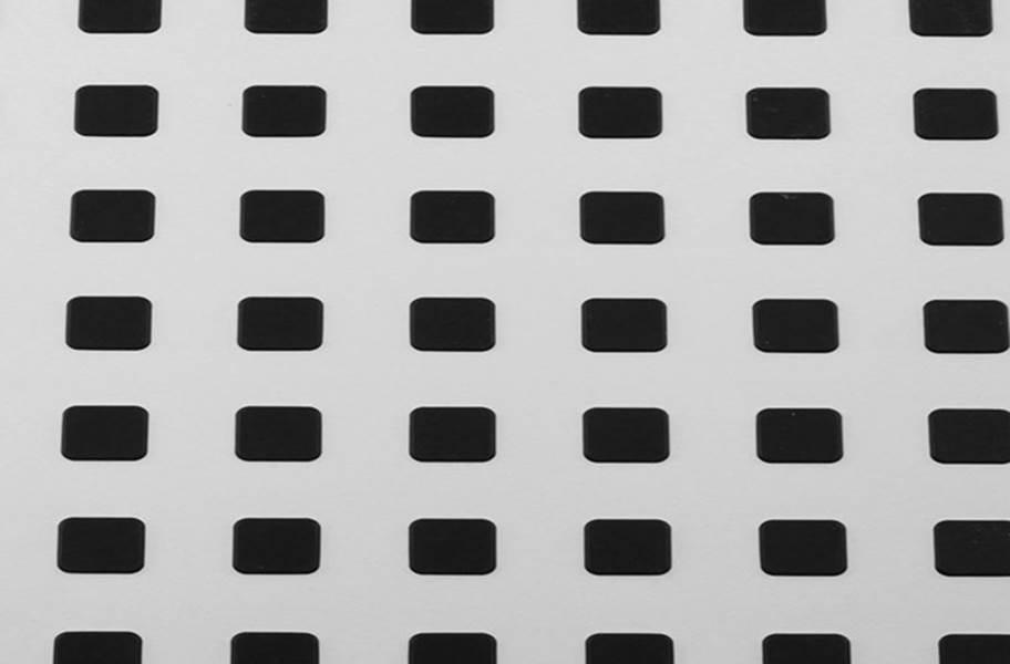 Premium Tiles w/ Traction Squares - White w/ Black