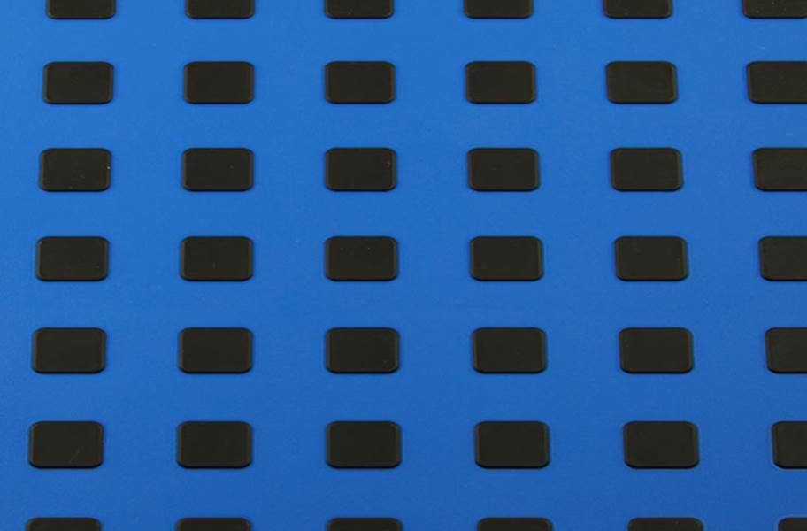 Premium Tiles w/ Traction Squares - Blue w/ Black