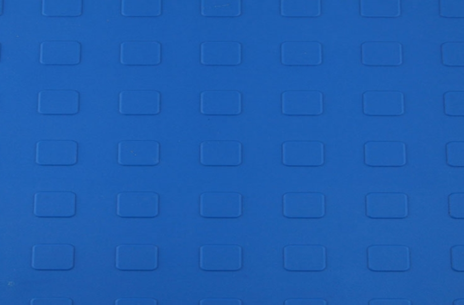 Solid Tiles w/ Raised Squares - Blue