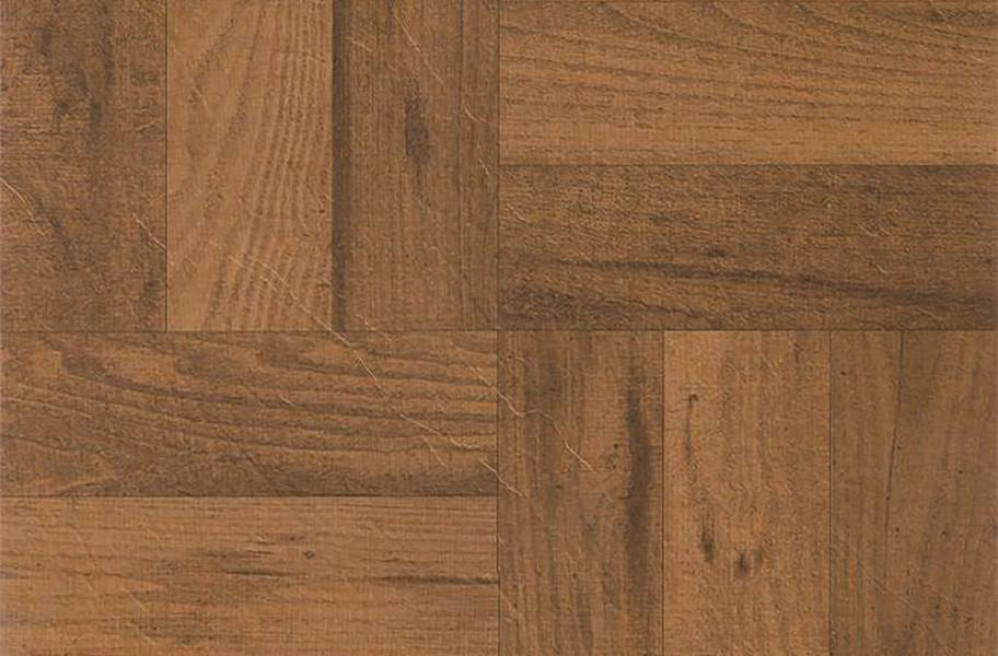 Wood Peel & Stick Vinyl Tile - Medium Oak Parquet