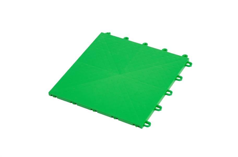 Premium Indoor Sports Tiles - Bright Green