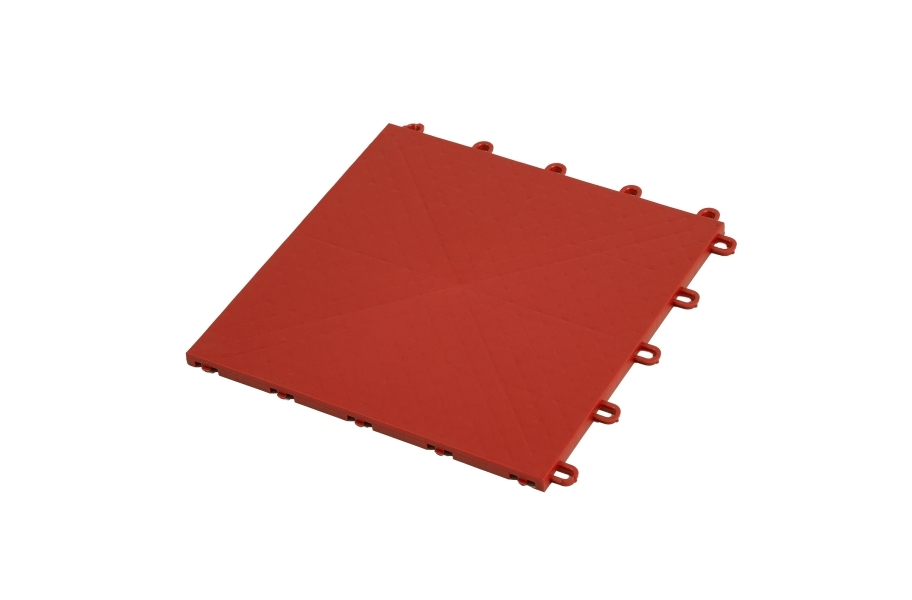 Premium Indoor Sports Tiles - Terracotta Red
