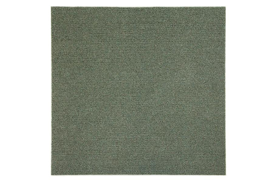 Premium Ribbed Carpet Tiles - Chestnut