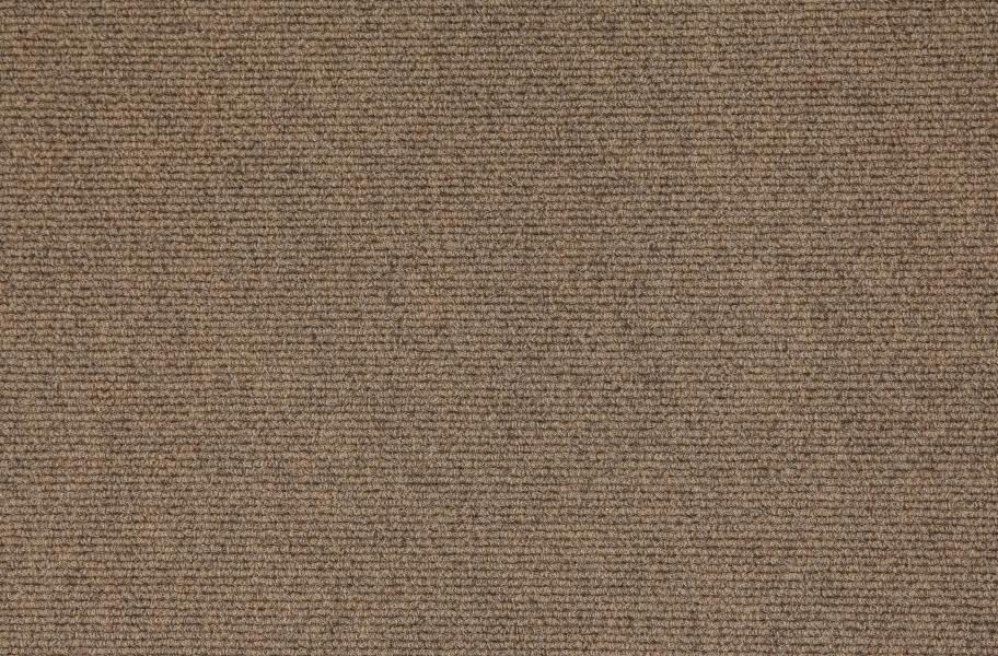 Premium Ribbed Carpet Tiles - Oatmeal