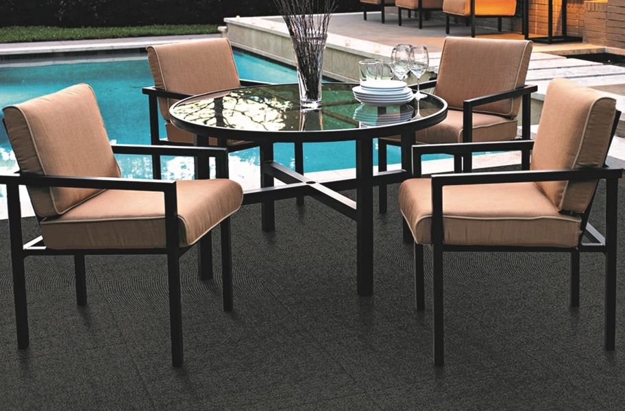 Premium Ribbed Carpet Tiles - Mocha