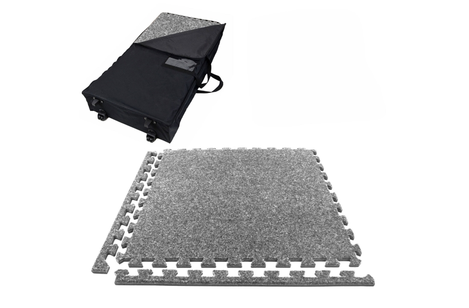 Eco-Soft Carpet Trade Show Kits - Wheeled Soft Case w/ 25 Tiles