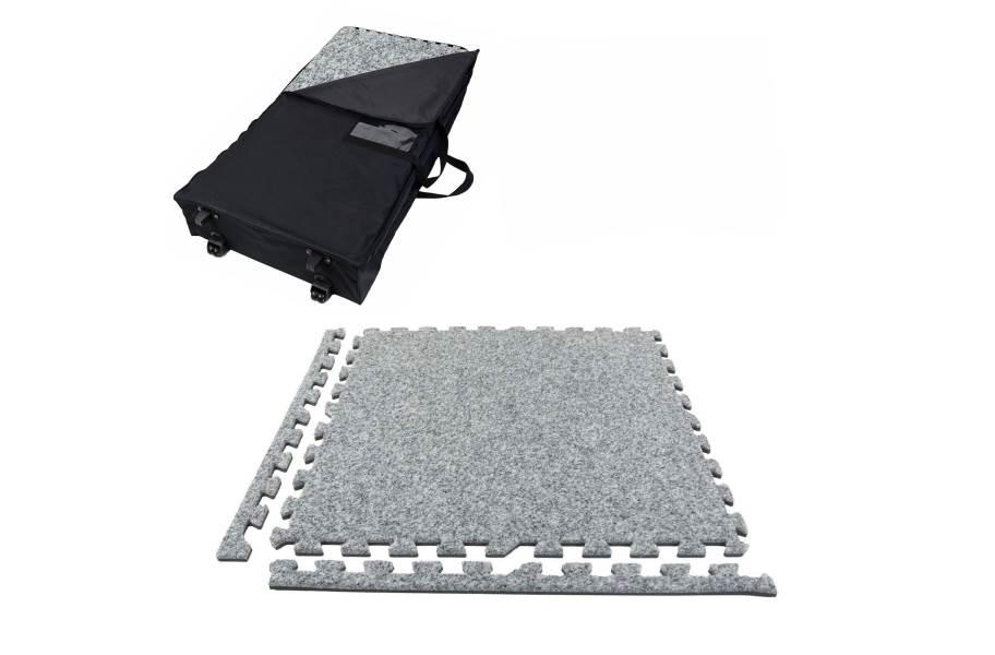 Premium Soft Carpet Trade Show Kits - Wheeled Soft Case w/ 25 Tiles