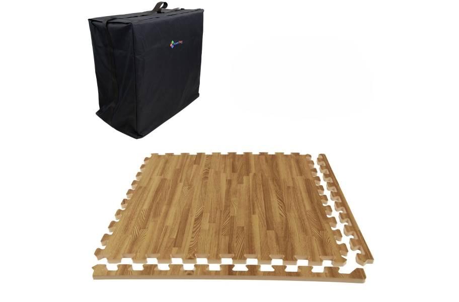 Premium Soft Wood Trade Show Kits - Soft Case w/ 25 Tiles