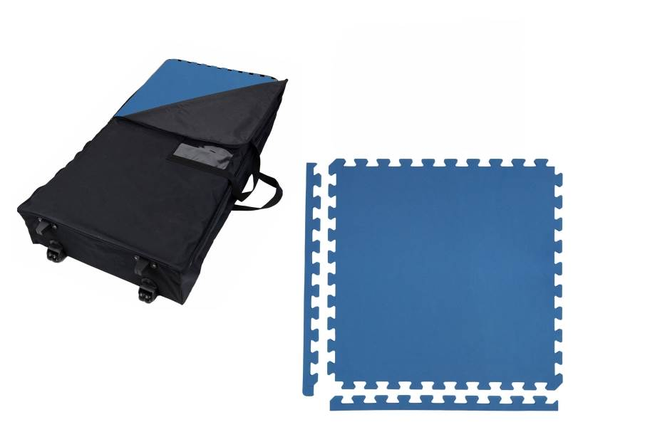 Premium Soft Tile Trade Show Kits - Wheeled Soft Case w/ 25 Tiles
