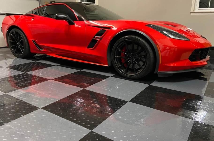 Nitro Tiles in a garage