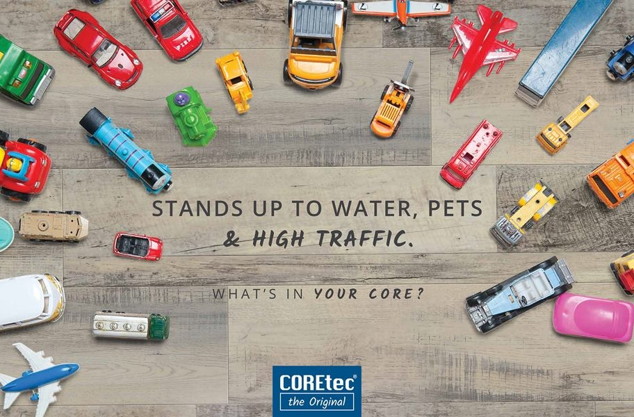 "COREtec Plus 18"" Waterproof Vinyl Tiles"